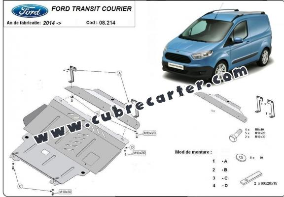 Cubre carter metalico Ford Transit Courier