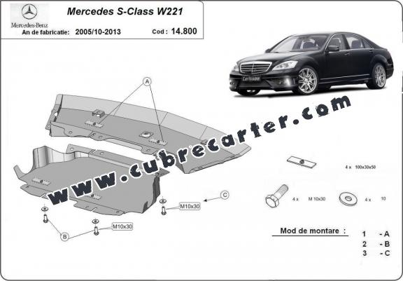 Cubre carter metalico Mercedes S-Classe W221