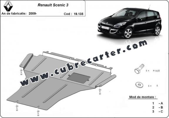 Cubre carter metalico Renault Scenic 3