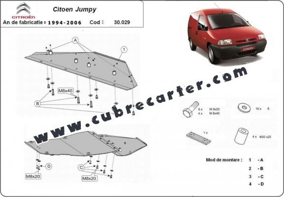 Cubre carter metalico Citroen Jumpy