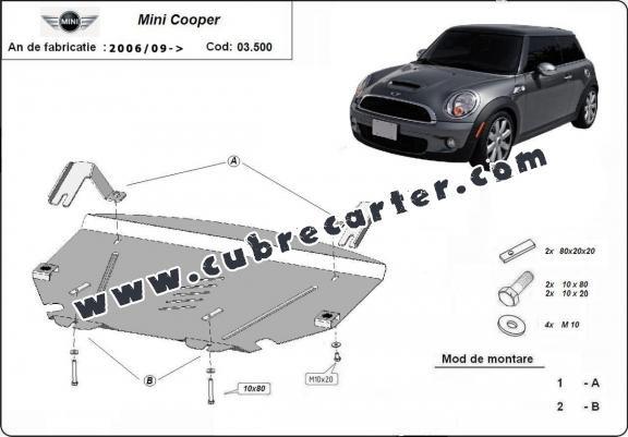 Cubre carter metalico Mini Cooper R56