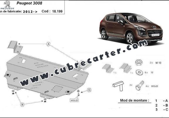 Cubre carter metalico Peugeot 3008
