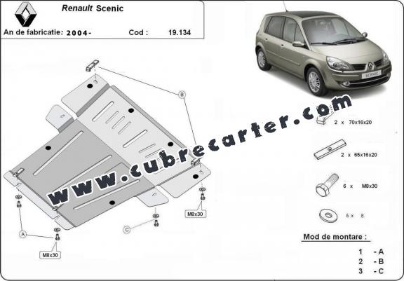 Cubre carter metalico Renault Scenic