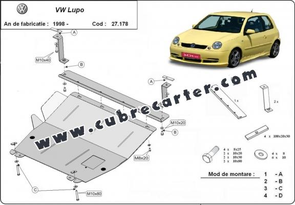 Cubre carter metalico VW Lupo