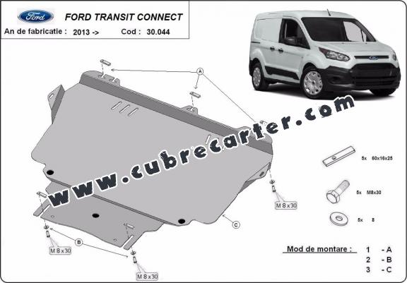 Cubre carter metalico Ford Transit Connect