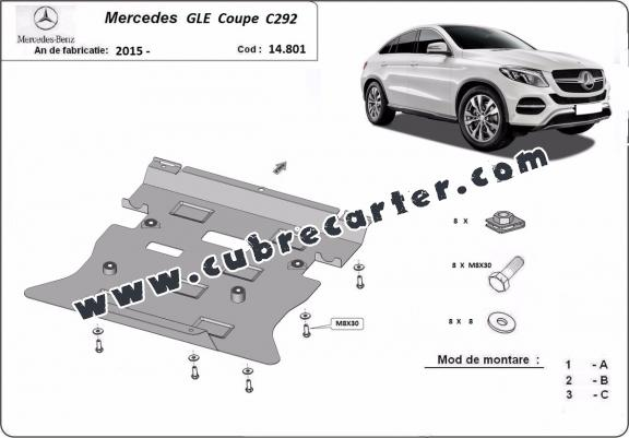Cubre carter metalico Mercedes GLE Coupe C292