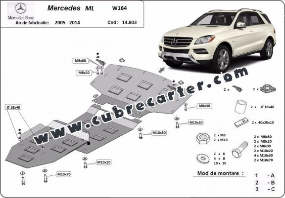 Cubre carter metalico Mercedes ML W164