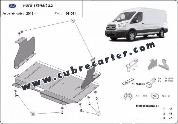 Cubre carter metalico Ford Transit