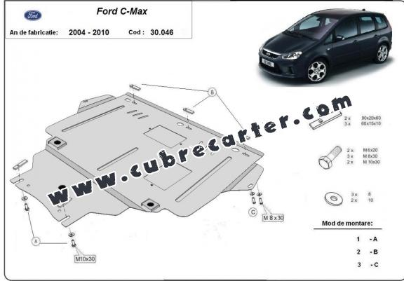 Cubre carter metalico Ford C - Max