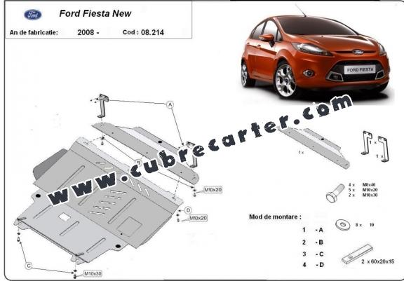 Cubre carter metalico Ford Fiesta