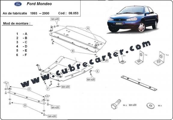 Cubre carter metalico Ford Mondeo 1,2