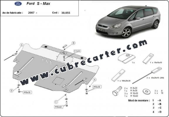 Cubre carter metalico Ford S - Max