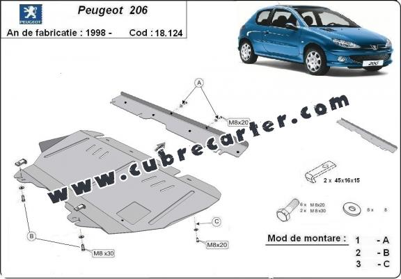 Cubre carter metalico Peugeot 206