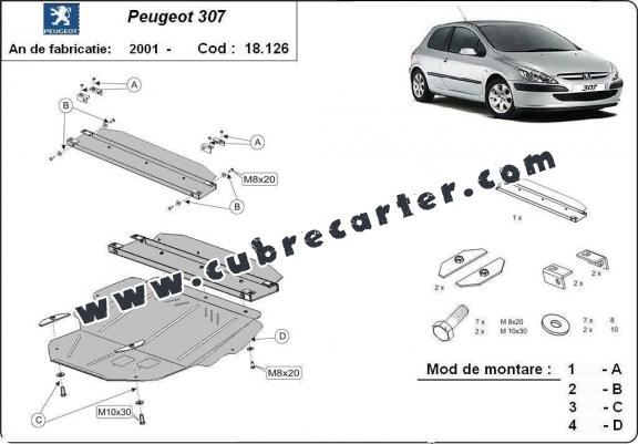 Cubre carter metalico Peugeot 307