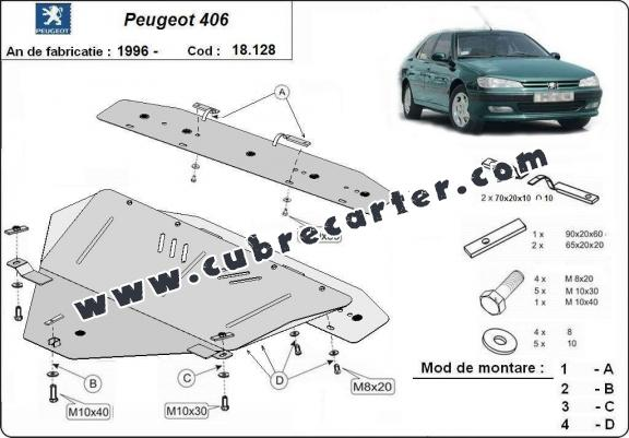 Cubre carter metalico Peugeot 406