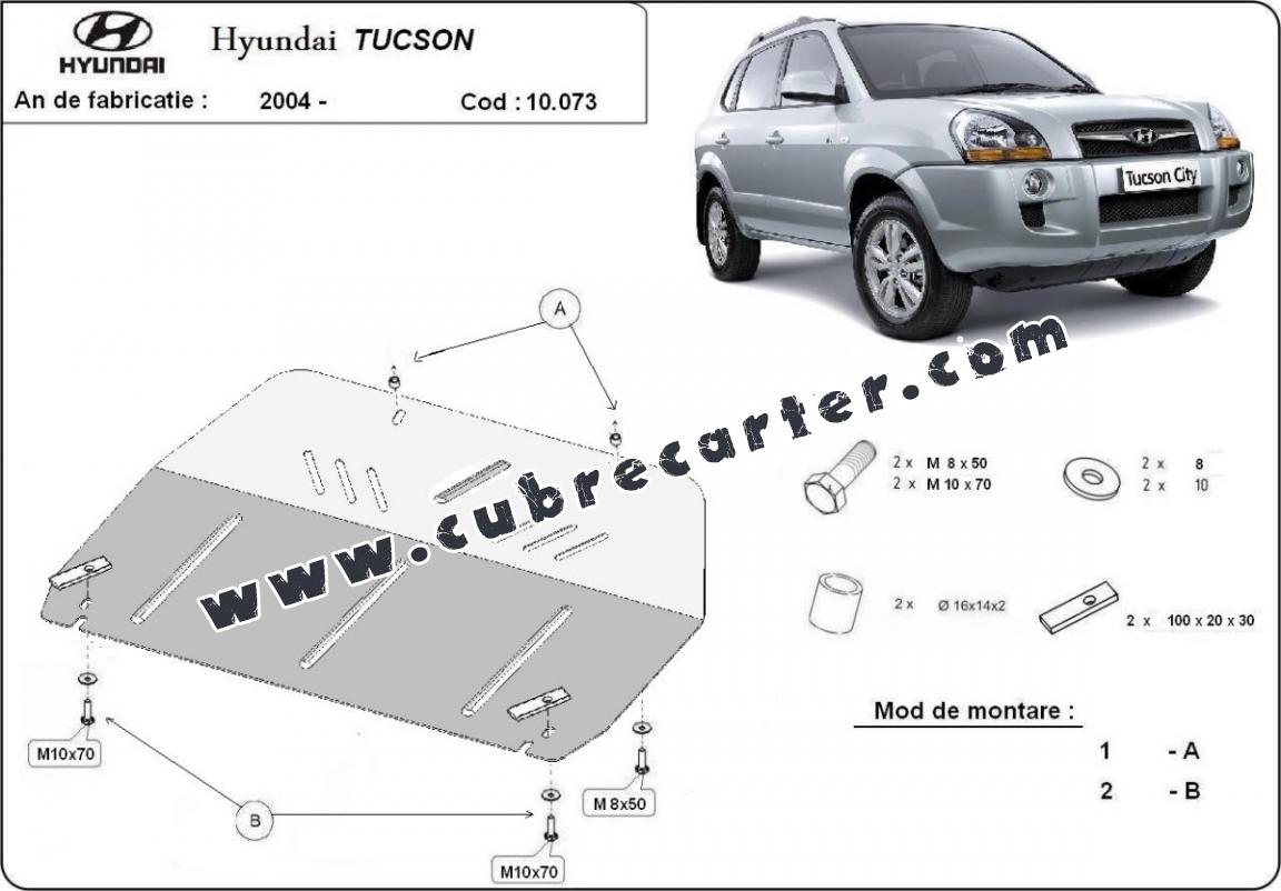 Cubre carter metalico hyundai tucson for Cubre piletas precios