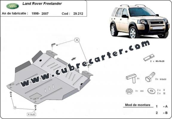 Cubre carter metalico Land Rover Freelander