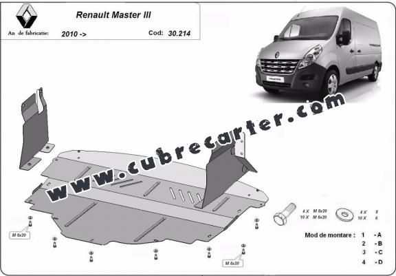 Cubre carter metalico Renault Master 3