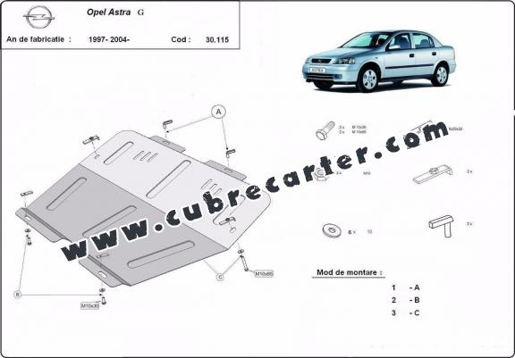 Cubre carter metalico Opel Astra G