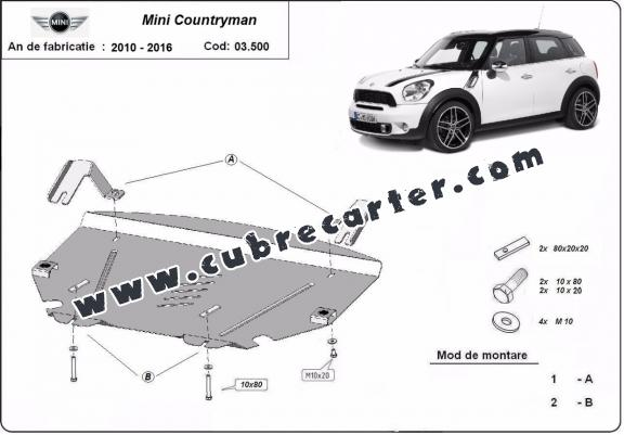 Cubre carter metalico Mini Cooper Countryman