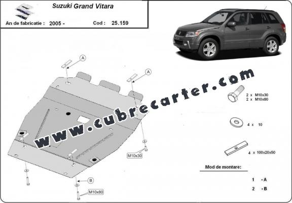 Cubre carter metalico Suzuki Grand Vitara XL7