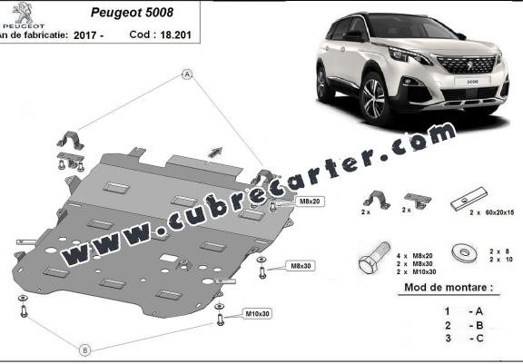 Cubre carter metalico Peugeot 5008