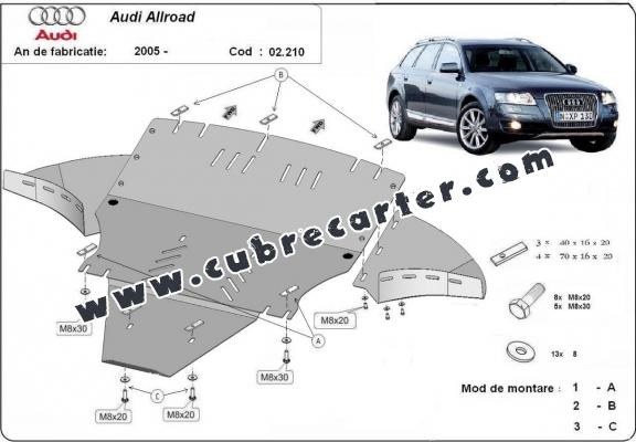 Cubre carter metalico Audi Allroad 2 - lateral