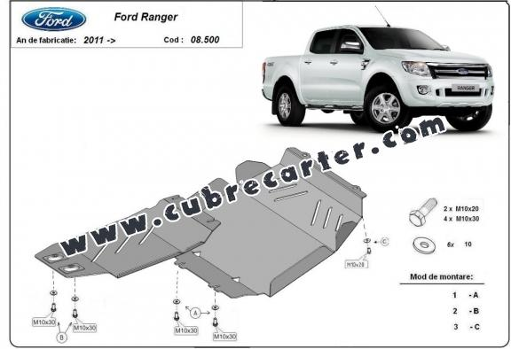 Cubre carter metalico Ford Ranger