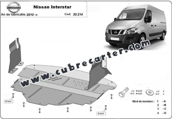 Cubre carter metalico Nissan Interstar