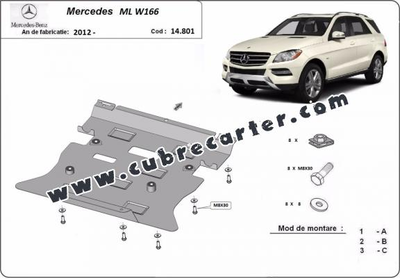 Cubre carter metalico Mercedes ML W166