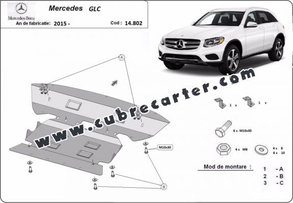 Cubre carter metalico Mercedes GLC X253