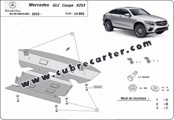 Cubre carter metalico Mercedes GLC Coupe X253