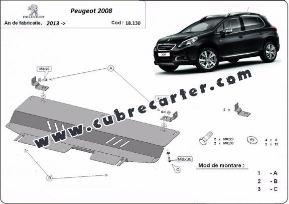 Cubre carter metalico Peugeot 2008
