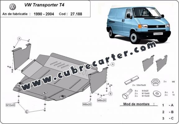 Cubre carter metalico VW Transporter T4