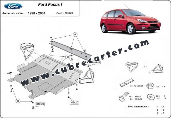Cubre carter metalico Ford Focus 1