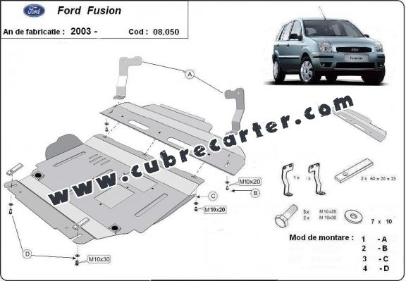Cubre carter metalico Ford Fusion