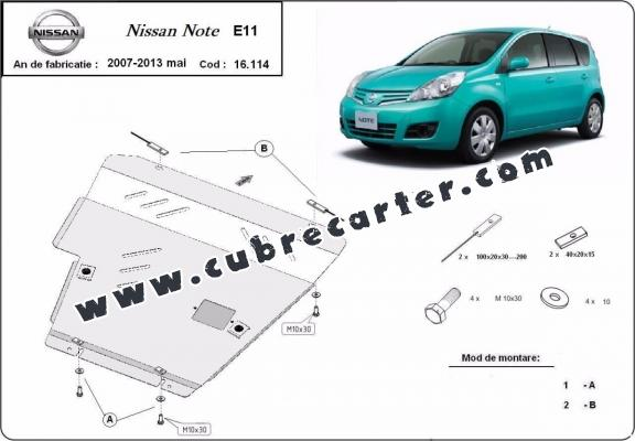 Cubre carter metalico Nissan Note