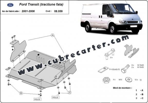 Cubre carter metalico Ford Transit - FWD