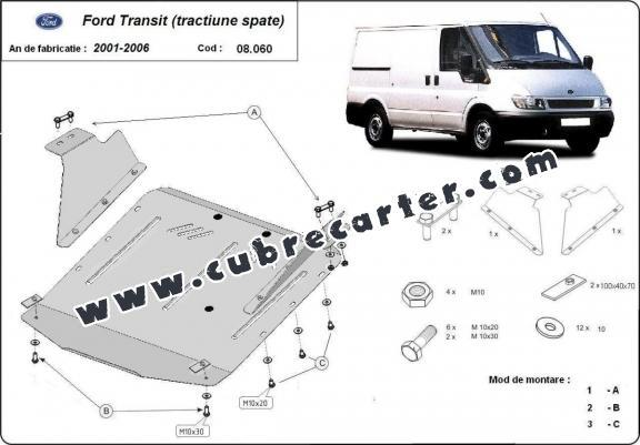 Cubre carter metalico Ford Transit - RWD