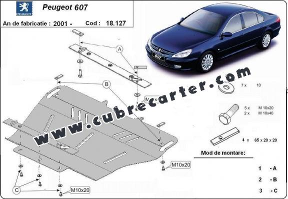 Cubre carter metalico Peugeot 607