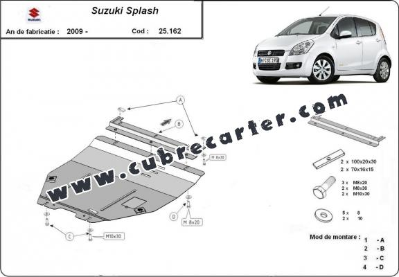 Cubre carter metalico Suzuki Splash an