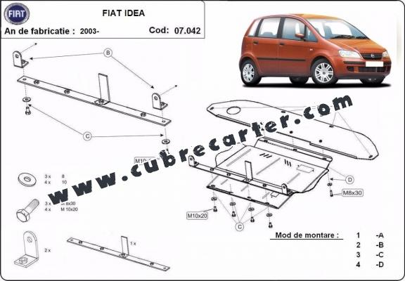 Cubre carter metalico Fiat Idea