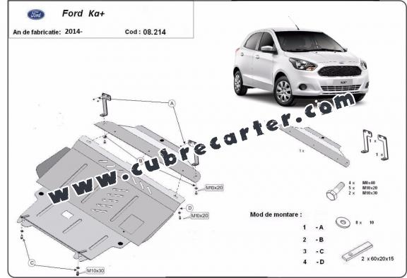 Cubre carter metalico Ford KA+