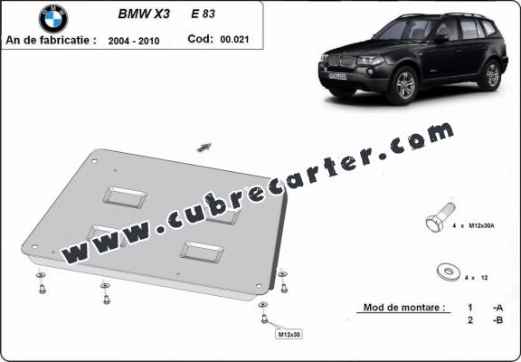 Cubre carter metalico BMW X3