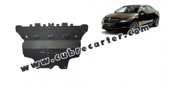 Cubre carter metalico Skoda Superb - caja de cambios manual