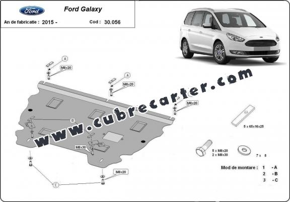 Cubre carter metalico Ford Galaxy 3