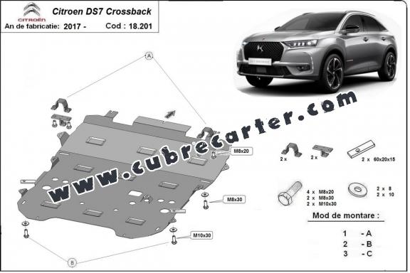 Cubre carter metalico Citroen DS7 Crossback
