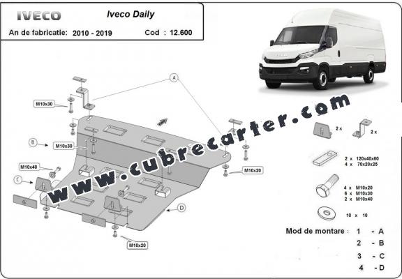 Cubre carter metalico Iveco Daily