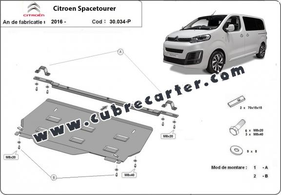 Cubre carter metalico Citroen Spacetourer MPV