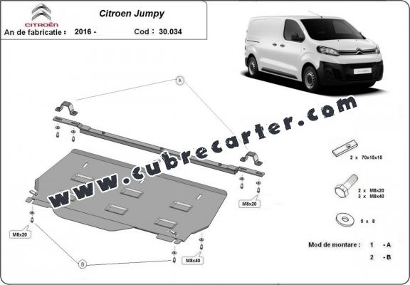 Cubre carter metalico Citroen Jumpy MPV